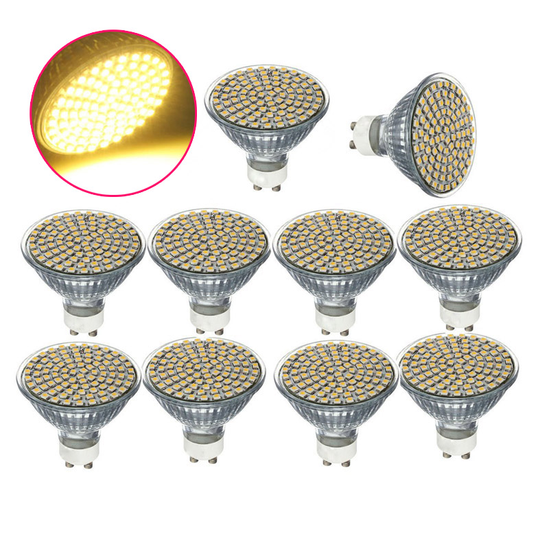 10PCS Led Light Bulb Lamp Spotlight 220V GU10 white 80SMD 93PCS lampada led lampara lampen bombillas led AA new mini e14 led bulb light 9w 7w led bulb 3w 5w 220v led lamp e14 cool warm white lampara led candle spotlight lampada led