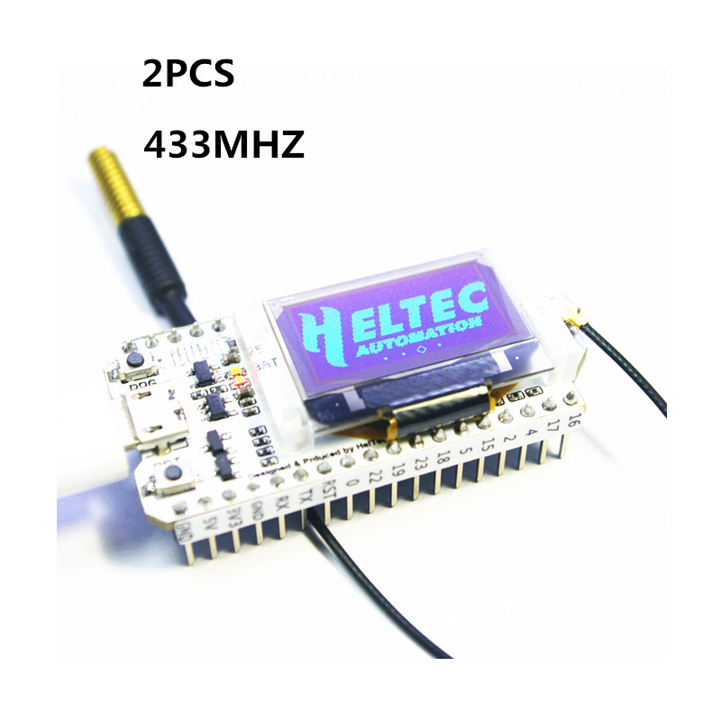 2PCS 433MHZ SX1278 ESP32 LoRa 0.96 Inch Blue OLED Display Bluetooth WIFI Lora Kit 32 Development Board for Arduino arduino internet of things development board esp32 chip non module bluetooth oled wifi kit 32