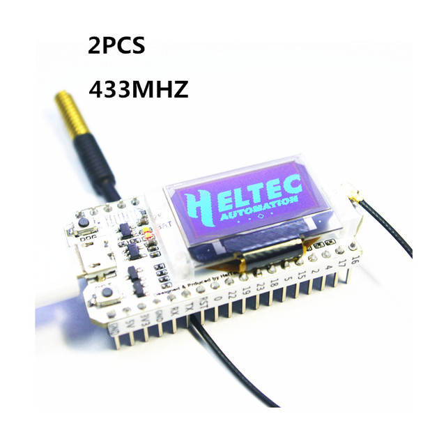 US $30 0 |2PCS 433MHZ SX1278 ESP32 LoRa 0 96 Inch Blue OLED Display  Bluetooth WIFI Lora Kit 32 Development Board for Arduino-in Remote Controls  from