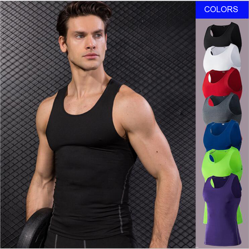 E-BAIHUI new Mens gym   tank     tops   Fit Vest Slim   Tops   Quick-dry sport vest Men Running Vest Summer   Tank     Top   Training Clothe1001