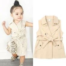 2-7Y модное пальто для маленьких девочек; куртка; ветровка; Верхняя одежда; Тренч; модные повседневные куртки; платье