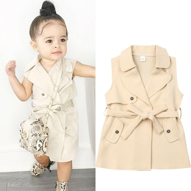2-7Y Infant Kids Coat Jacket Windbreaker Outerwear Trench Casual Jackets Dress