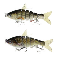 2 Pieces Multi Jointed Wobblers Fishing Lures 9.5cm 16.5g Lifelike Artificial Hard Bait with Soft Fin & Tail Swimbait(China)