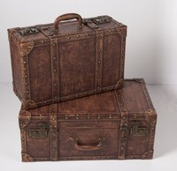 A large suitcase retro vintage wooden suitcase decoration photography props European window display bar