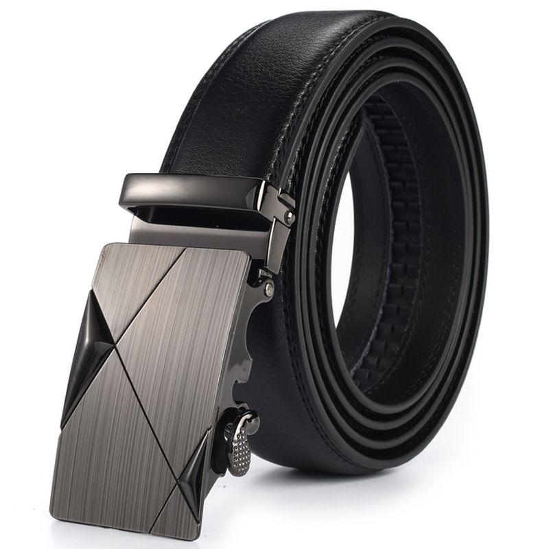 Automatic Buckle Designer Belts Formal Solid Waist Strap Men Belt Black Male Genuine Leather Jeans Ceinture Cintos Para Homens
