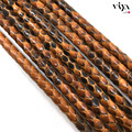 6mm Luxury Bracelet Leather Cord 2015 Top Sale High Quality Leather cord 6mm Brown Python Leather Cord