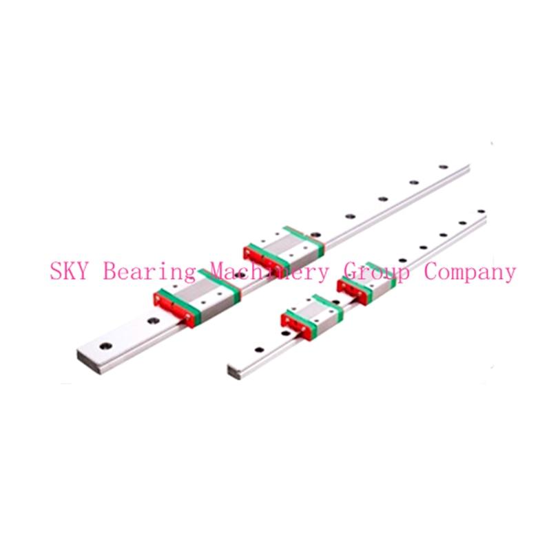 ФОТО NEW 15mm miniature linear guide MGN15 L= 400mm rail + 2pcs MGN15H CNC carriage