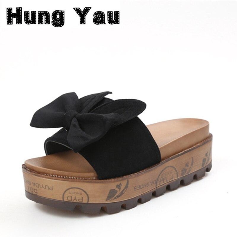Hung Yau Women Fashion Summer Style Slides Slippers Sweet Rabbit Flat Mules Heel Flip Flops Slipony Slip On Sandals Shoes Size 8