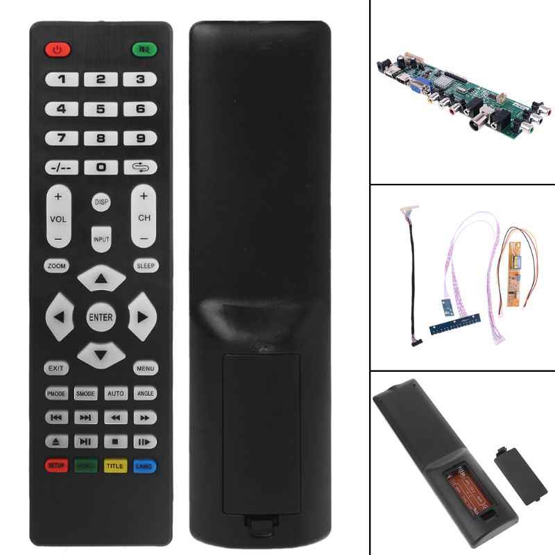 V56 V59 تلفاز LCD لوحة للقيادة DVB-T2 7 مفتاح التبديل IR 1 مصباح العاكس LVDS عدة 3663