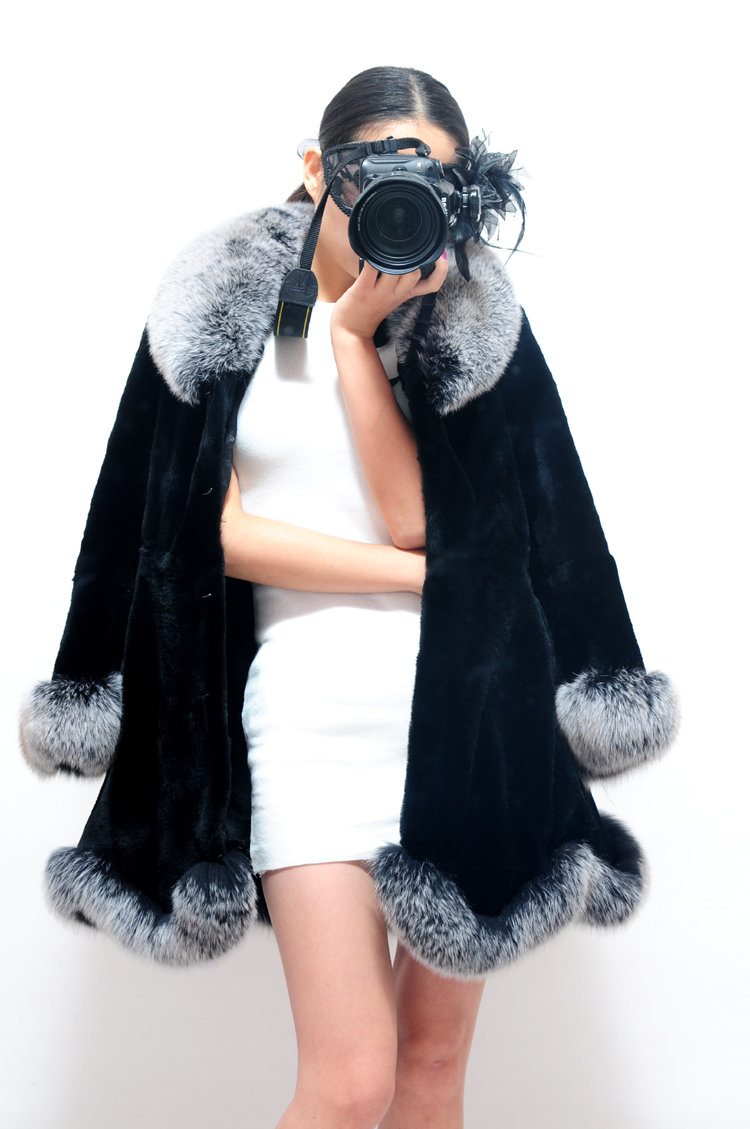 Couche Long Rex Col Argent Lapin Manteau Fourrure Noir Cm Renard Vêtement Plus De Parka Finition Pardessus Manteaux Outwear 78 Robe Mlhxfur nXBqEvxav