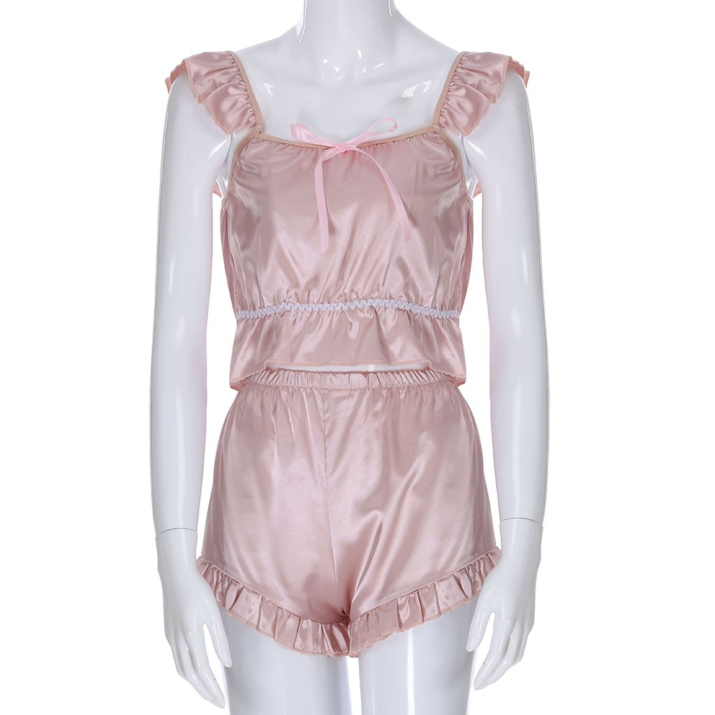 <font><b>pijama</b></font> Women <font><b>Sexy</b></font> Lace Lingerie 2PC Nightwear Underwear <font><b>Babydoll</b></font> Sleep short <font><b>Sexy</b></font> costumes porno Pajamas Sleepwear Set Short#080 image