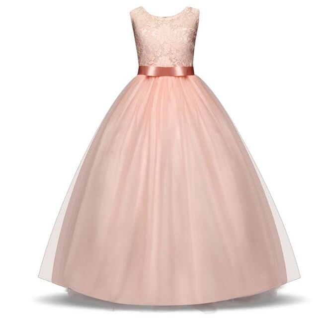 WFRV Summer Kids Dresses For Girl Clothes Flower Girl Gown