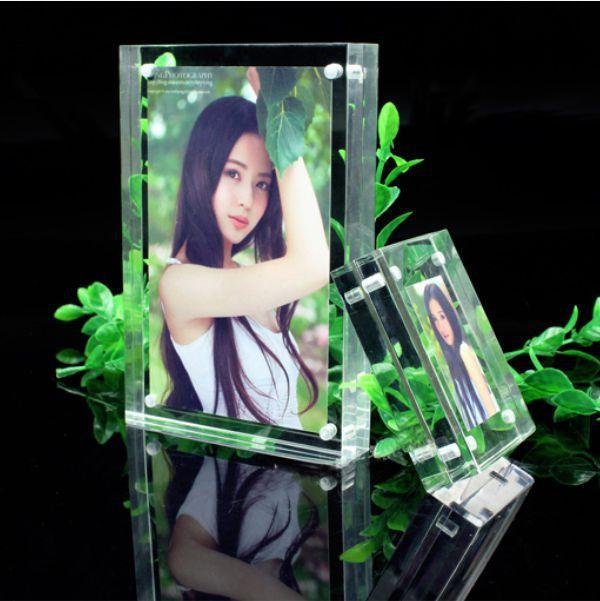 creative acrylic crystal price tag/ table card / station sign / information shelf /photo frame 178*127mm