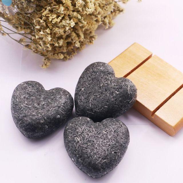 60g El Yapımı şampuan Sabun Antidandruff Soğuk Işlenmiş Bambu Kömür Şampuanı Bar 100% Saf şampuan s Saç Bakımı Aracı