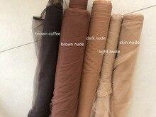 Brązowa naga kawa jasna naga skóra nude dark nude super miękka z drobnymi oczkami tiulowa tkanina 160cm szerokość 4 metrów/partia