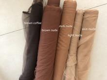 Tissu tulle à mailles très fines café couleur chair chair, couleur chair foncée, couleur chair très douce, 160cm de large, lot de 4 mètres par lot