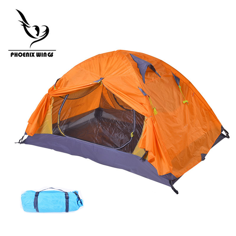 Windproof Waterproof Double Layer Tent two person Tents Ultralight Outdoor Hiking Camping Tent Picnic Tents Aluminum Pole coolwalk 3 4 person dome tent windproof waterproof double layer tent outdoor hiking camping beach tent picnic family tents