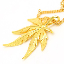 23.6inch Long Cuban Chain Hip Hop Mens  Gold Plated Charm Pot Leaf Weed Herb Necklace Chunky Stainless Steel Dancer Jewelry