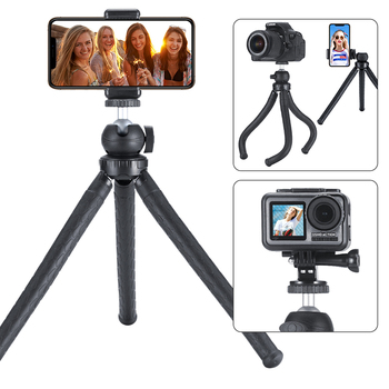 Travel Outdoor Octopus Tripod Mini Bracket Stand Flexible Tripod with Ballhead Phone Mount for Smartphone DSLR Camera Gopro mini flexible sponge octopus tripod for iphone samsung xiaomi huawei smartphone tripod stand holder for gopro camera dslr mount