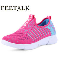 Feetalk New Men Women Light Mesh Running Shoes Super Cool Athletic Sport Shoes Comfortable Breathable Men