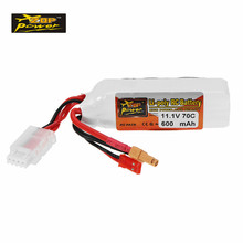 ZOP Power 11.1V 600mAh 70C 3S Rechargeable Lipo Battery JST XT30 Plug Connector for Lizard9