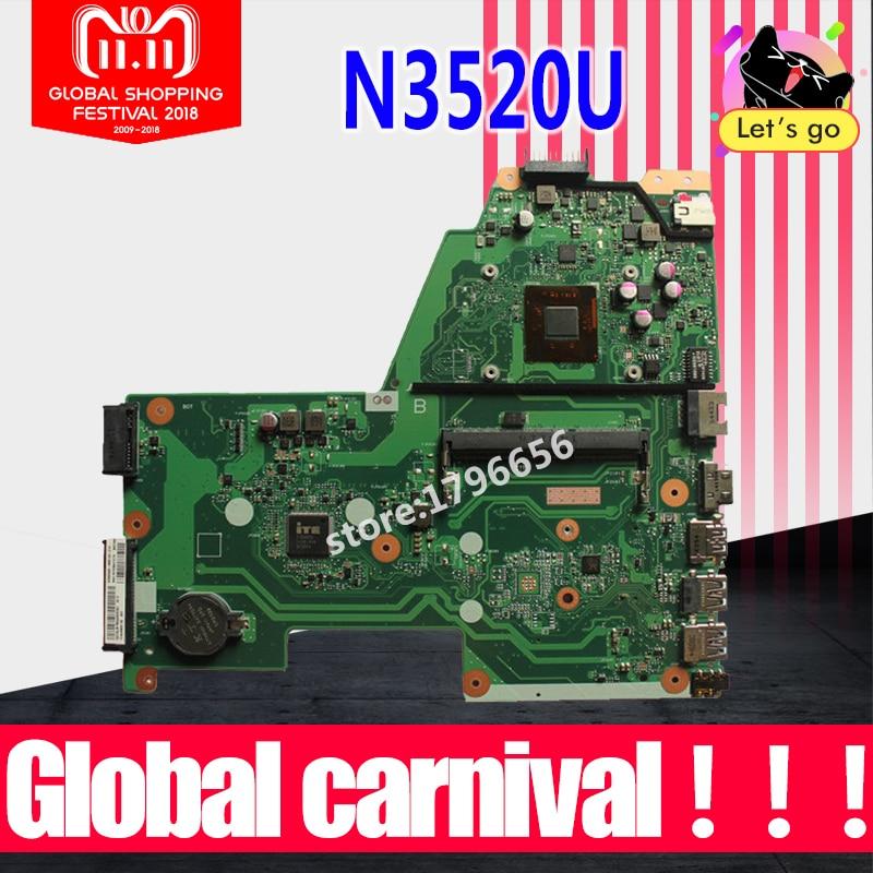 X451MA Motherboard N3520 CPU For ASUS X451MA X451M F451M laptop Motherboard X451MA Mainboard X451MA Motherboard test 100% ok цена