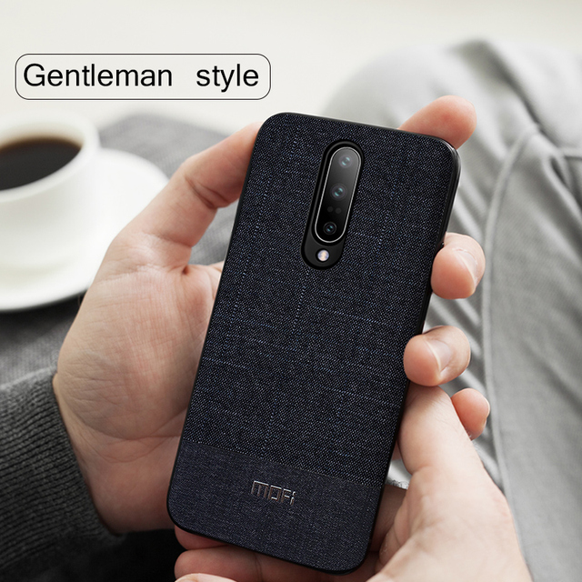 MOFi OnePlus 7 Pro Gentleman Business Style Shockproof Back Case Cover