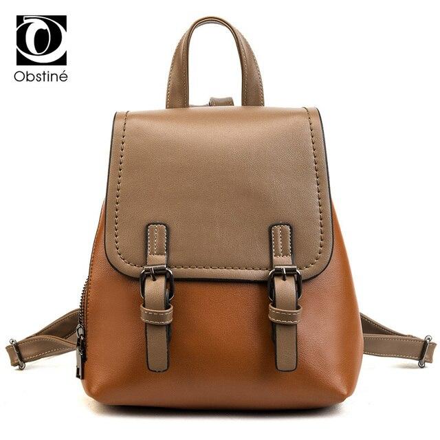 1350d9ef16 Obstine 2018 Mini Casual Daypack for Girls Backpack Women Small Cute  Backpacks High School PU Leather