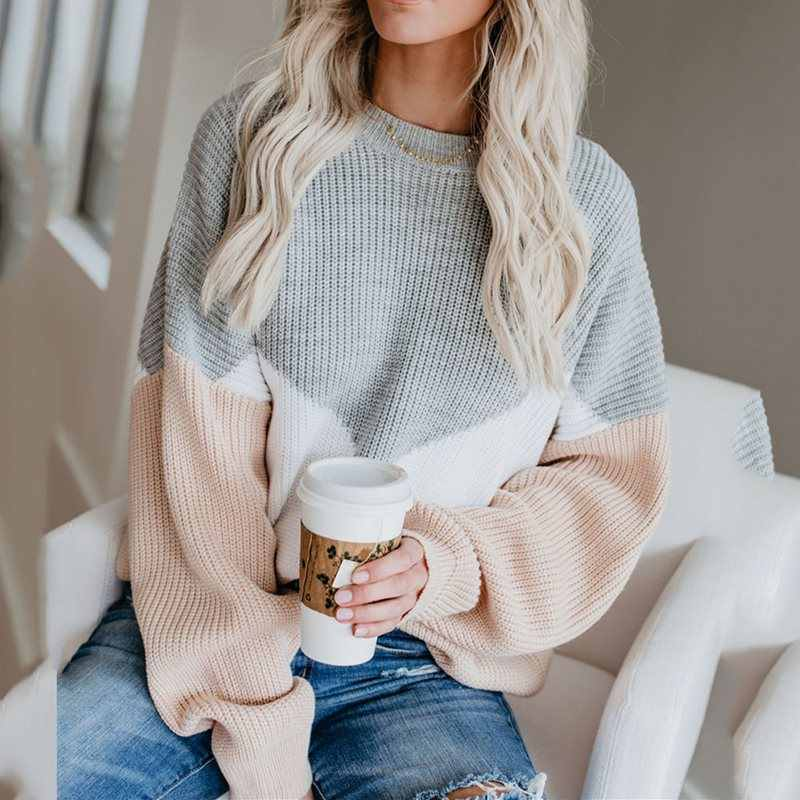 Boho Fall 2019 Elegant Casual Plus Size Sweaters Women Loose Thin Wool Red Gray African Fashion Office Ladies Female Tops