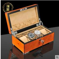 Luxurious 4slot wood watch boxes wood cases for watches watch display box for jewelry organizer SBH016