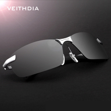 Veithdia Brand Rimless Polarized mens Rimless sunglasses des