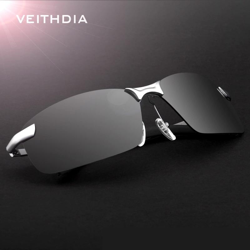 2019 Neuer Stil Veithdia Marke Randlose Polarisierte Herren Randlose Sonnenbrille Designer Sonnenbrille Fahren Goggle Für Männer Oculos De Sol Männlichen Shades