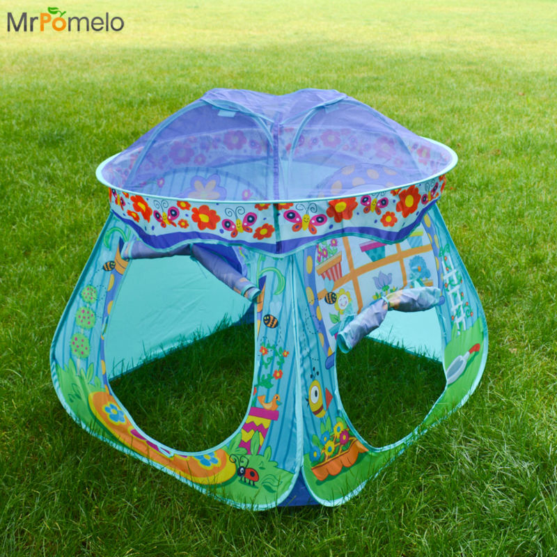 MrPomelo Children Toy Tent Tipi Ball Pool TeePee Play Tents Mushroom Playhouse Beach Tent Baby Indoor Playing Toys with Tunnel-in Toy Tents from Toys ... & MrPomelo Children Toy Tent Tipi Ball Pool TeePee Play Tents ...