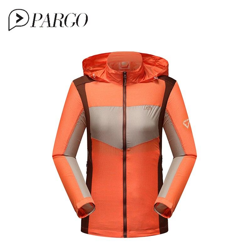 цена на PARGO Windbreaker Jacket Waterpoof Ultra Light Women Running Coat Outdoor Clothing Anti-Uv UPF 40 Sun Protection Run Raincoat
