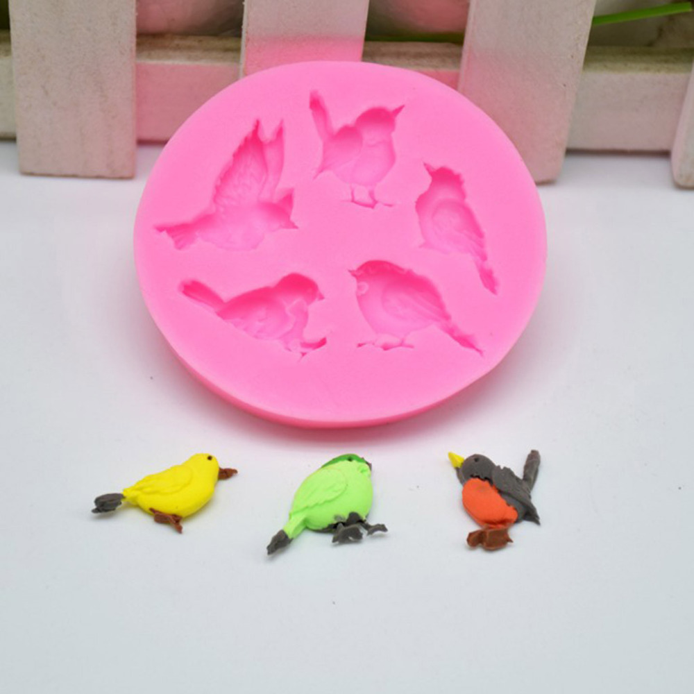 Dependable Cute Bird Shape Fondant Silicone Mold For Kitchen Baking Cake Pastry Candy Clay Making Cupcake Lace Decoration Tools Z0417#g20 50% OFF Bakeware Home & Garden