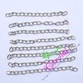 Free Shipping ! Wholesale 100Pcs 2.5 inch Silver Plated Smooth Extension Chain CDWB-518008