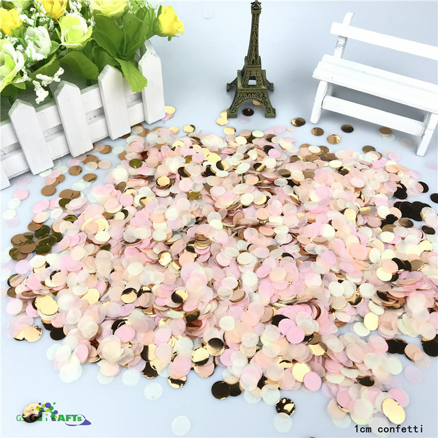 10g/bag Mixed Colors Metallic Rose Gold Mini Round Confetti Dots Baby Shower / Birthday Decorations