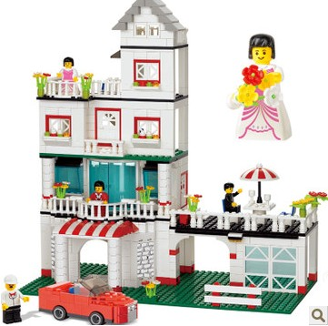 WOMA J5644 My Villa Plastic Building Block Sets for Girls 640pcs Educational DIY Bricks Toys for Girls little white dragon assembling toys educational toys girl fantasy girls beach villa 423