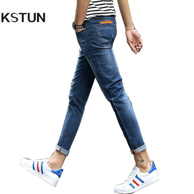 New Arrival Jeans Men Korean Trendy Fashion Boys Fake Pockets Desgin Slim Fit Skinny Jean Man Casual Denim Pants Jean Slim Homme men s cowboy jeans fashion blue jeans pant men plus sizes regular slim fit denim jean pants male high quality brand jeans
