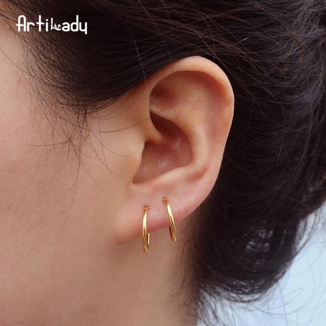 Artilady Cartilage Earring Hoop Earrings Set Small For Women 3 Prs Dropshipping Jewelry