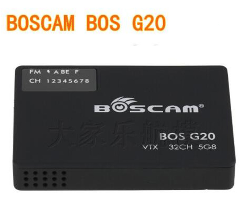 1PC Transmitter 4/32 Channel Boscam Bos G20 5.8G 32CH VTX FPV For Gopro 3/3+ Transmitters For FPV RC Accessories new boscam fpv 5 8g 5 8ghz 2000mw 2w 32 channels wireless av transmitter automatic signal serch tx58 2w for fpv support fatshark