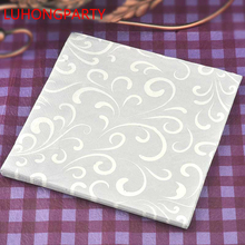 New 20pcs Gray Classic Elegant Paper Glass Napkins folded Wedding 100% Virgin Wood Tissue for coffee shop Party Decoration