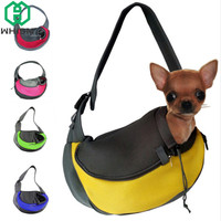 WHISM Portable Pet Dog Carrier Single Shoulder Bags Soft Breathable Dog Bag Cat Carrier Small Pets Travel Bags Puppy Sling Bag