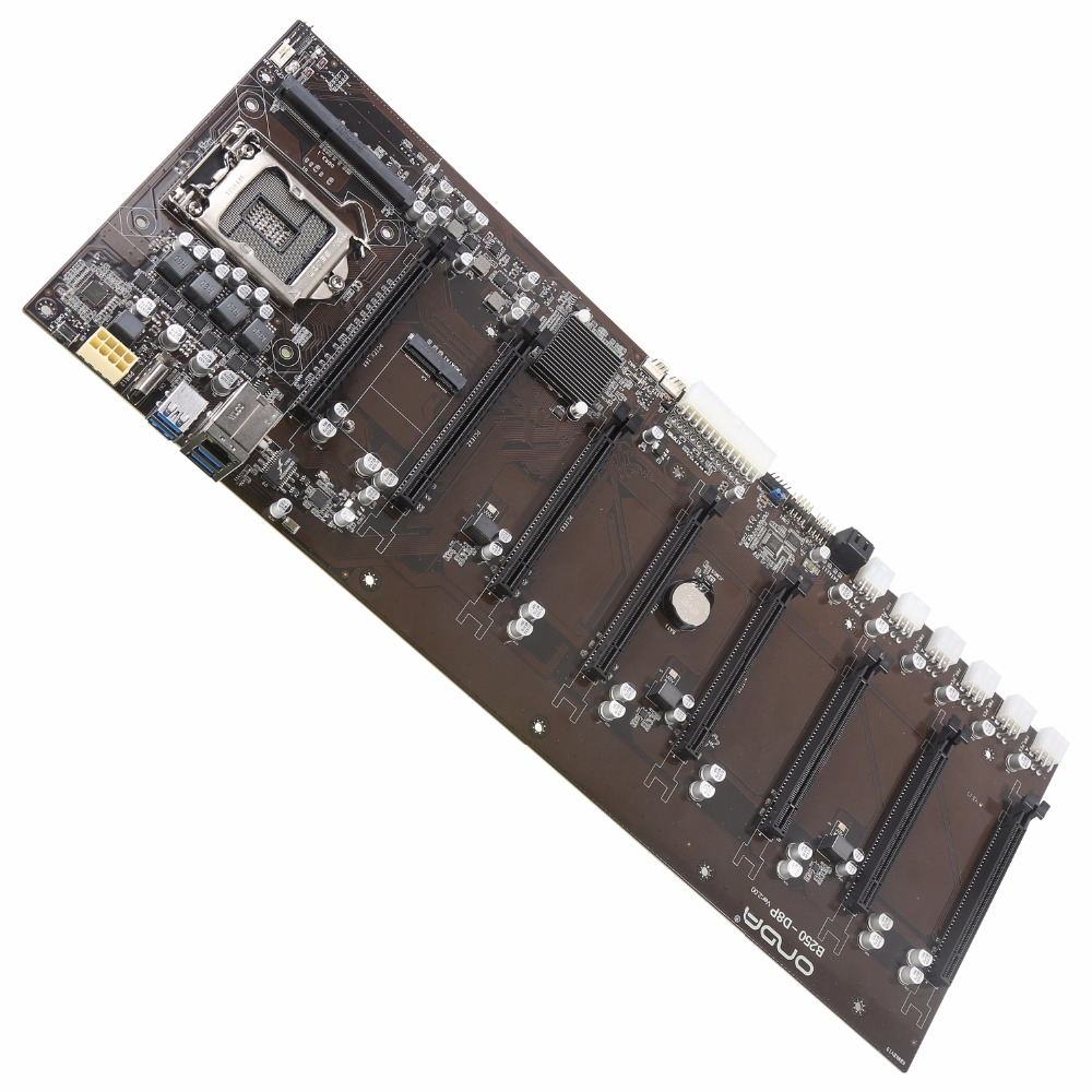 8PCIE 8GPU NEW for Onda B250 BTC D8P DDR3L 1151 BTC Mining Board Alternative TB250 BTC
