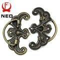 Ned 10 unids clásico tono de bronce cajón modelo escritorio armario de la joyería de la puerta manijas manija perillas dos de tamaño con muebles Hardware