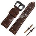 Для LG G Watch Вежливый 22 мм Качество Нубук кожа Ремешок Для Часов Браун Мужские Часы группа LG G Watch R Watch аксессуары