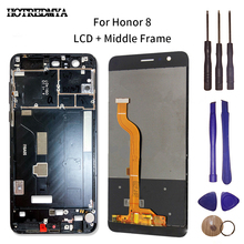 5.2 LCD Display Touch Screen Digitizer For Huawei Honor 8 FRD-L19 LCD With Frame Sensor Glass Panel Assembly Replacement lcd display touch screen for prestigio muze e3 psp3531duo psp3531 muze d3 psp3530 digitizer panel sensor lens glass assembly