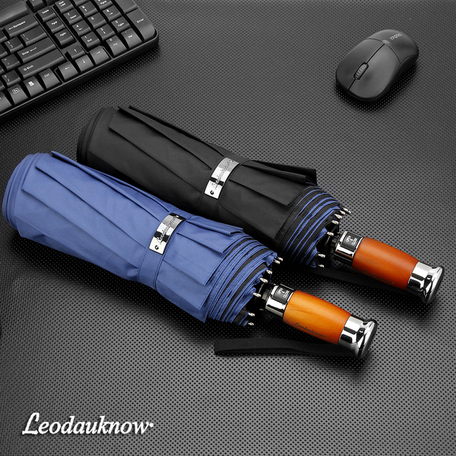 Genuine Brand 125cm Big Automatic Quality Double Layer Umbrella Rain Women 3Fold Windproof Large Outdoor Umbrella Men Woman 3