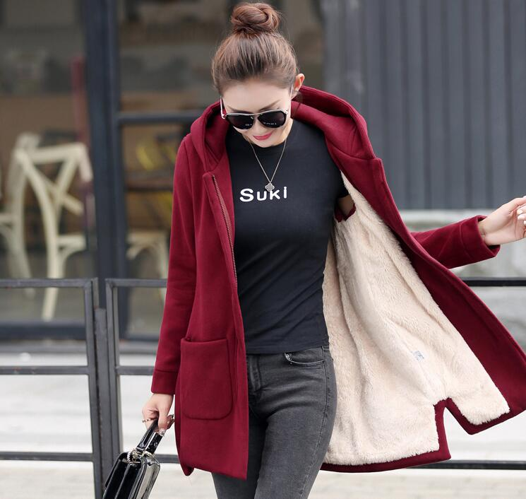 Autumn and winter new Korean version of the cloak thicker velvet hooded sweater maternity loose jacket цены онлайн