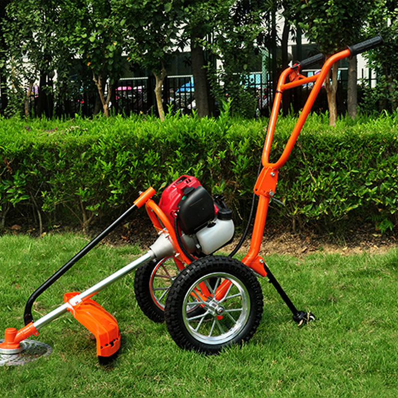 Us 271 53 9 Off New Hand Push Gasoline Lawn Mower Air Cooled Two Stroke Engine 1 25kw 7000 Min Displacement 43cc 13kg In Tool Parts From
